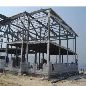 Large Span Steel Structural Building with Crane for Warehouse, Industrial Workshop