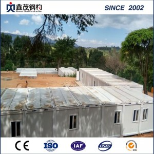 Prefab Container House Accomodations of Light Steel Structure with Easy Installation