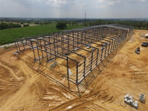 steel structure prefabricated house for painting workshop at Thailand