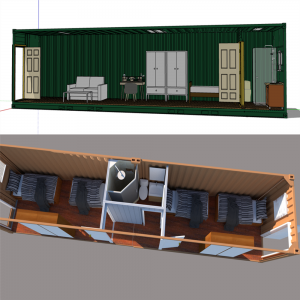 40 ft container camp house prefabricated living houses furnished fiber detached home
