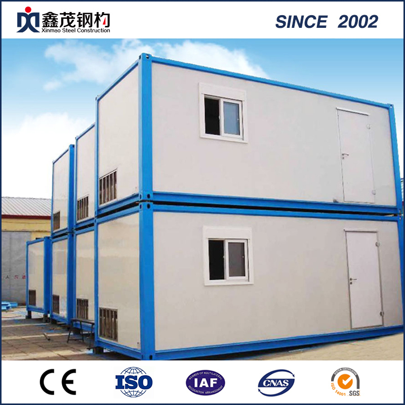 China Cheap Price Living Container House   Cabin House With Building  Materials, Drawing And Installation