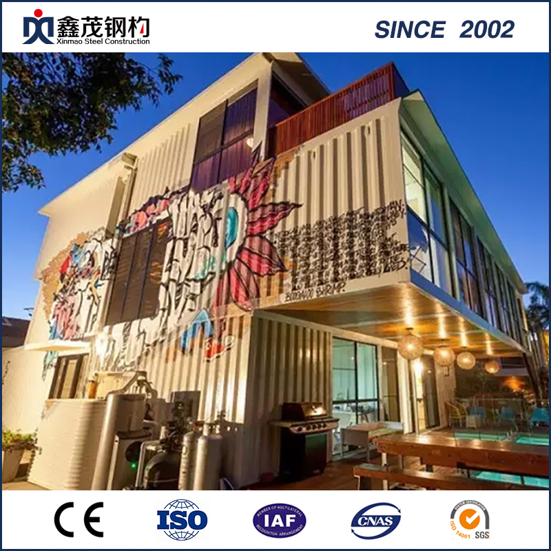 Ce and ISO Certificated Prefabricated Container House for Motel