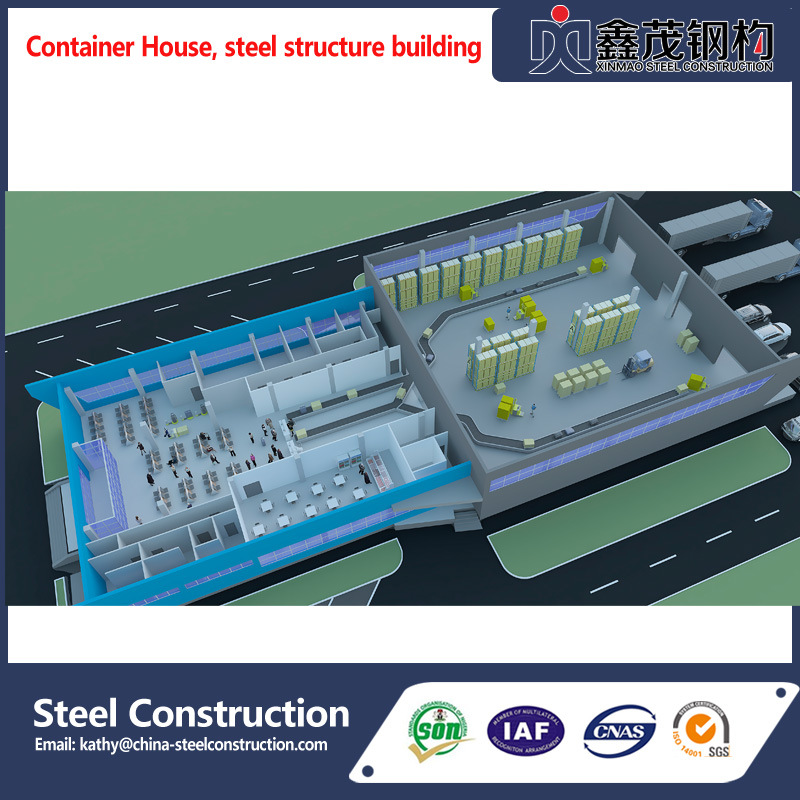 China Steel Construction Prefabricated Building for Plant/Workshop/Warehouse Featured Image