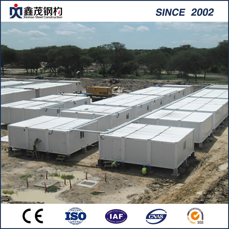China Cheap Price Steel Portal Frame Building Assembly   Customized Prefab  Container Dormitory Worker House With