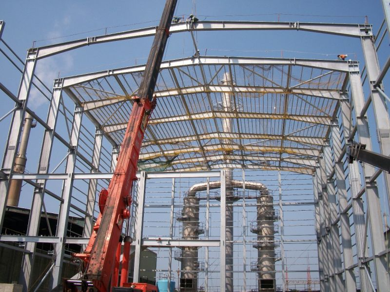 Earthquake-Proof Prefabricated Steel Structure Warehouse with Crane