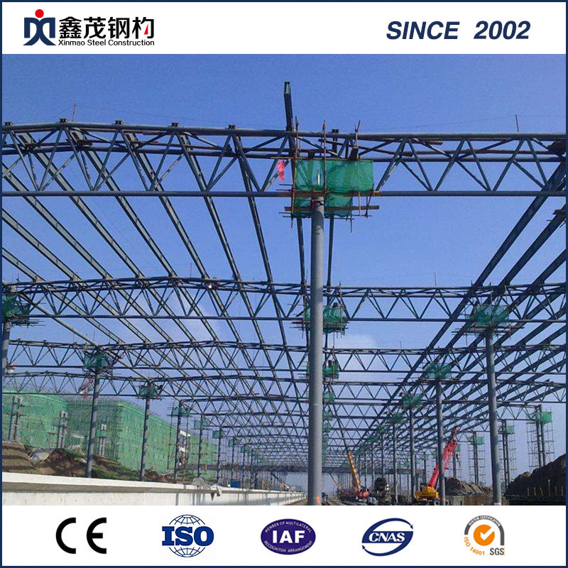 Fireproofing Earthquake-Proof Prefabricated Steel Construction Workshop with Crane