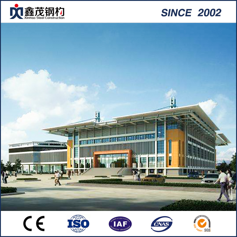 Glass Curtain Wall Steel Structure 4s Car Exhibition Hall