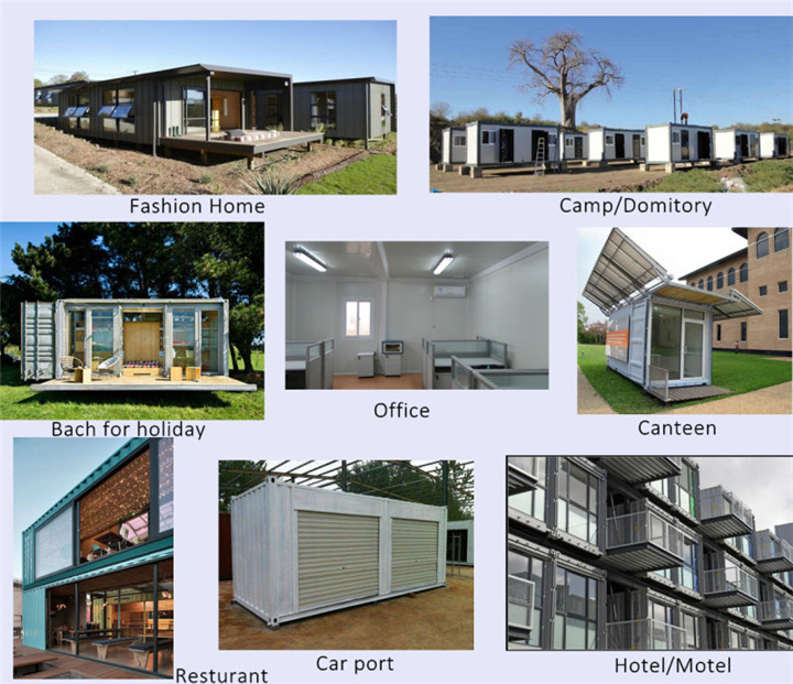 High Quality Prefab Steel Shipping Container House With