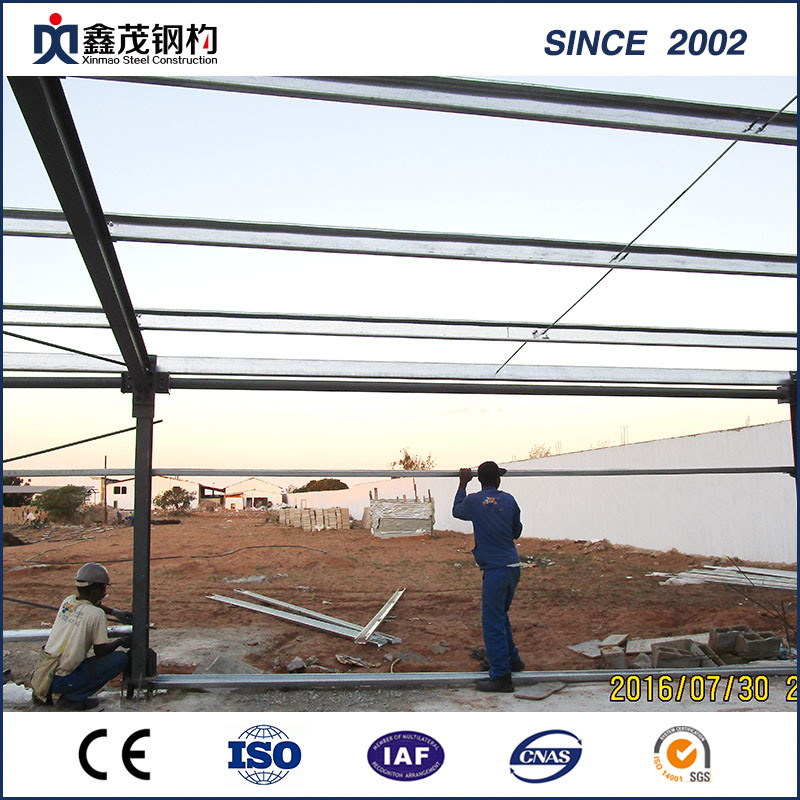 High Strength Preassemble Steel Structure Warehouse with ISO Certification