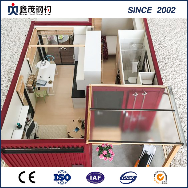 ISO Certificated Prefabricated Container House for Temporary Dormitory