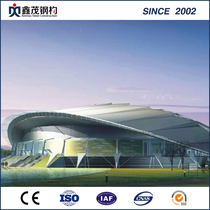 Large Span Pre Engineered Prefabricated Steel Structure for Stadium