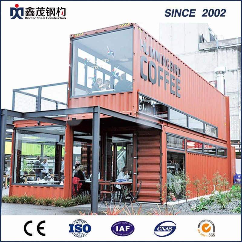 Modular Flat Pack 40 FT Container House Shop for Merchandise Street