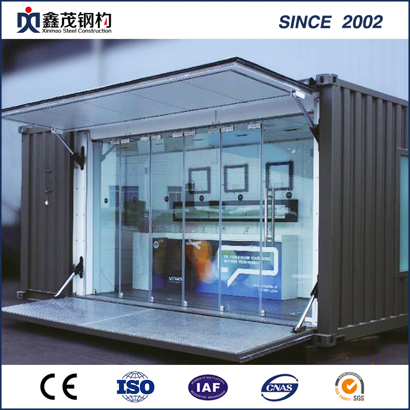 Modular Portable Container House Store With Solar Board