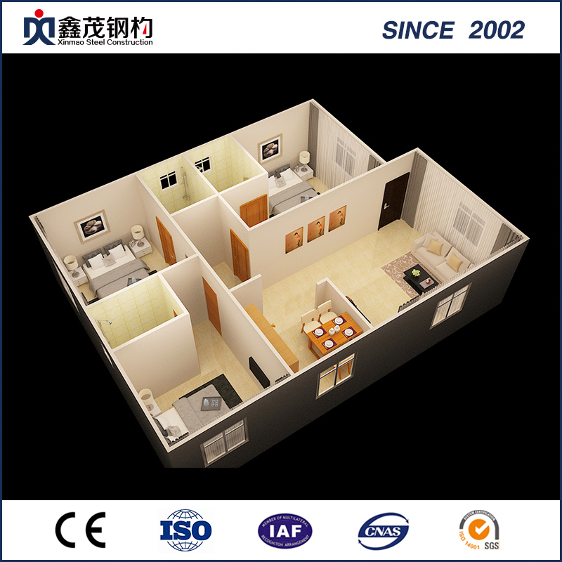 Modular Portable Standard Flat Pack Container House with Kitchen Toilet