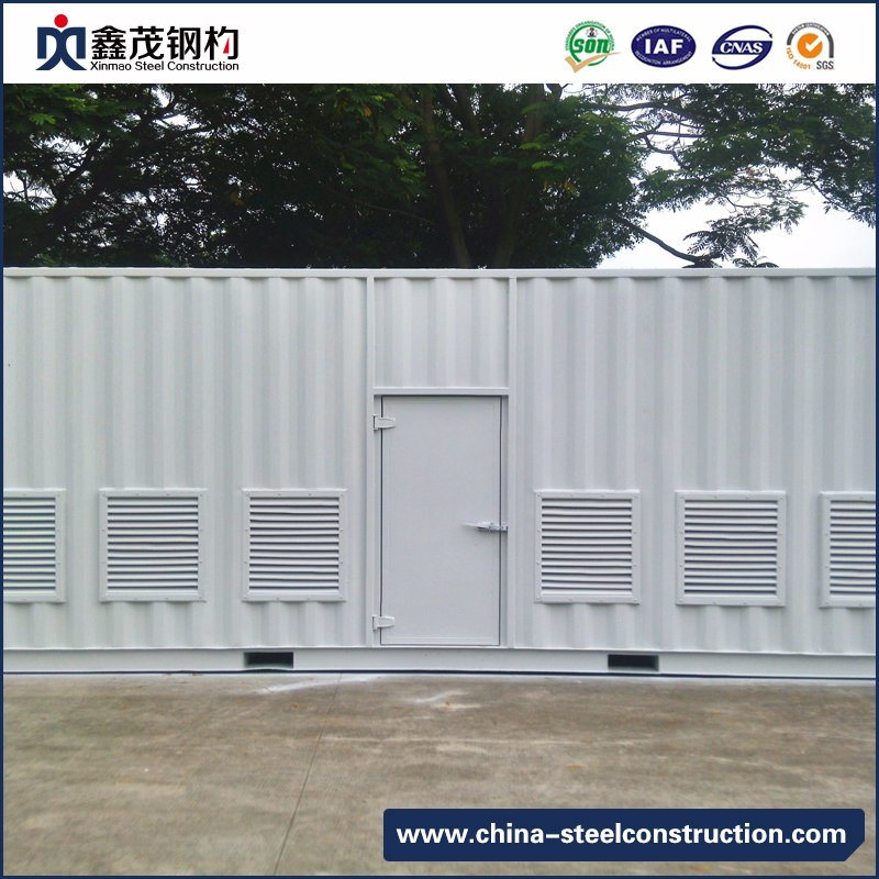 Movable Prefab Container House with Steel Frame for Dormitory