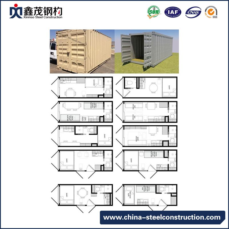Prefabricated Container Cabin Container House for Dormitory