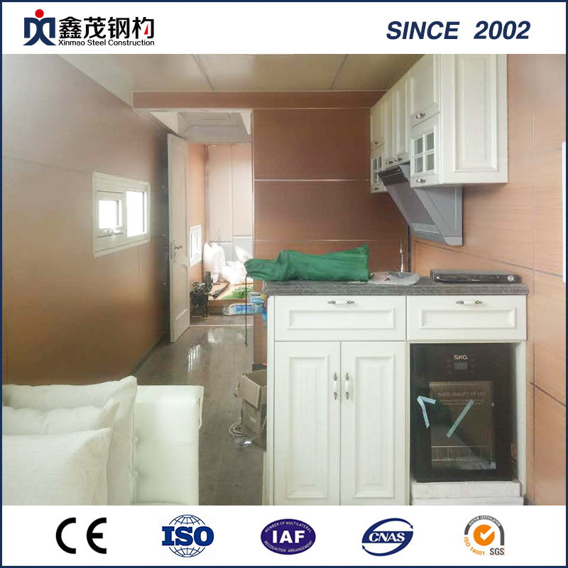 China Cheap Price Steel Portal Frame Building Assembly   Prefabricated  Shipping Container House For Single Department