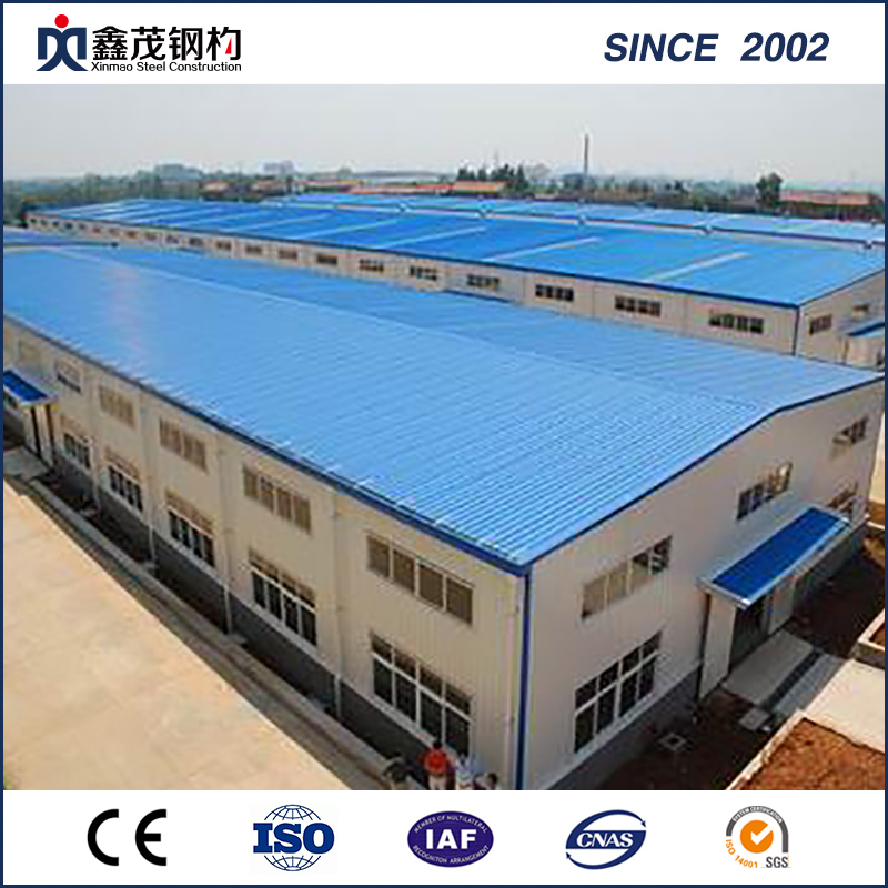 Prefabricated Steel Structure Workshop Building with ISO Certification