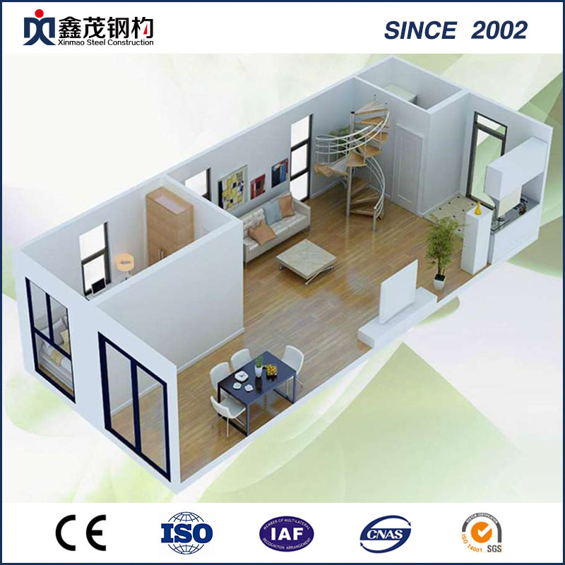 Simple Decorated Modular Portable Standard Flat Pack Container House