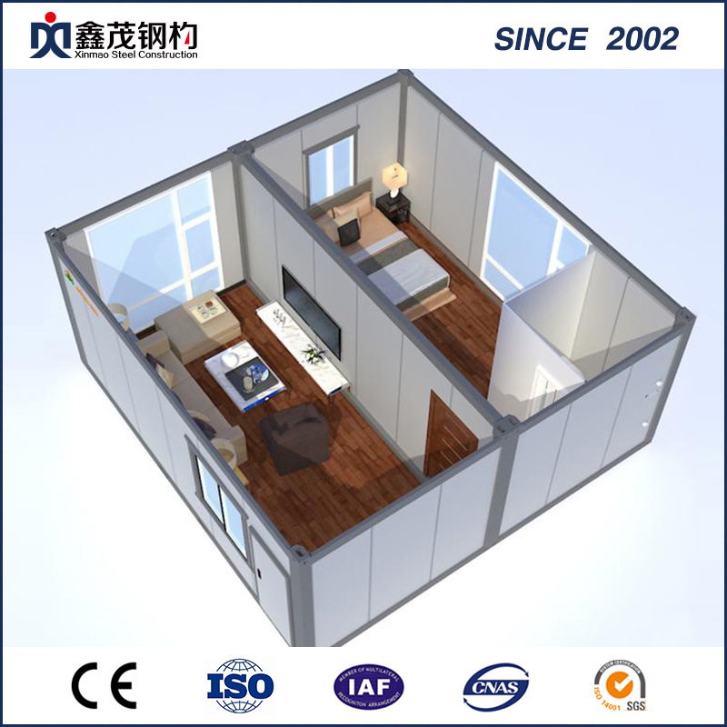 Standard Foldable Container House with Bathroom for Single Department