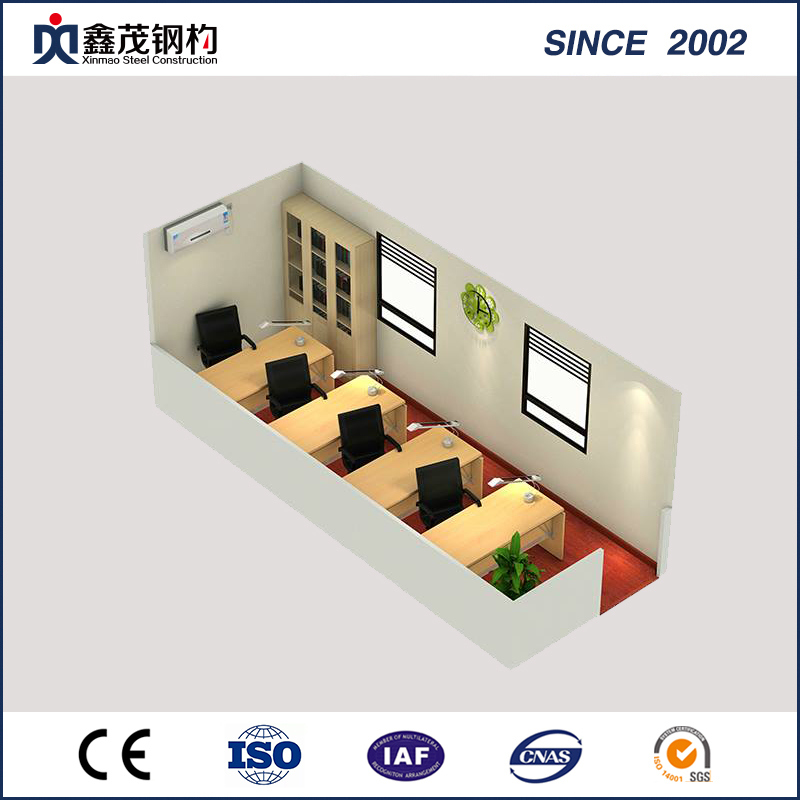 Temporary Purpose Prefabricated Container House Office with Steel Frame