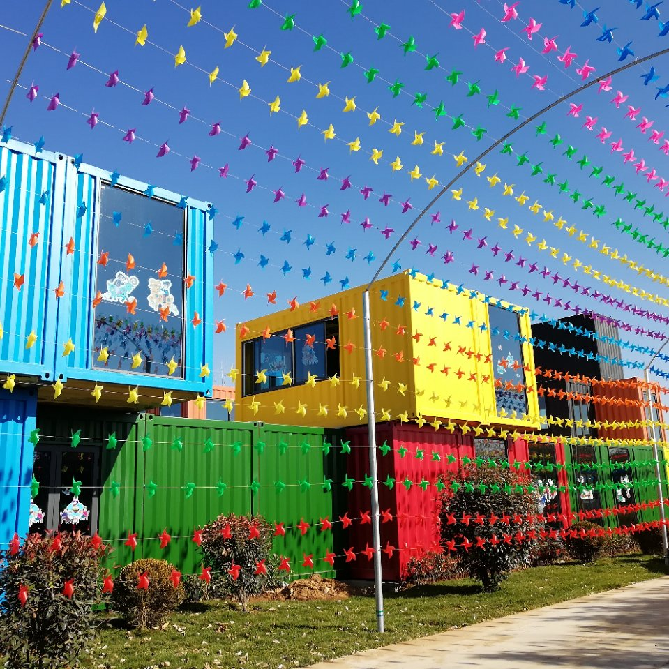 Qingdao Xinmao ZT Steel Construction company had provided shipping container construction in China's first Farmers Harvest Festiva